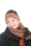 Beautiul stylish woman in winter outfit Stock Photo