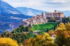 Beautufl  villages of Italy - San Vito Romano Stock Photos