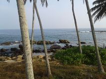 Beautuful θάλασσα της Σρι Λάνκα ` s στην παραλία στοκ εικόνα με δικαίωμα ελεύθερης χρήσης