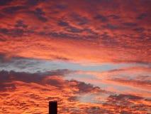 Beautuful soluppgång i Fort Worth i början av Augusti Fotografering för Bildbyråer