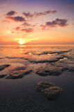 Beautuful tranquil sunset over the ocean Stock Photos