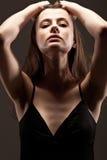 Beautuful woman studio portrait Stock Photography