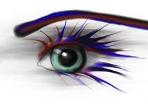 Beauty. Macro eye with creative make up Royalty Free Stock Photography