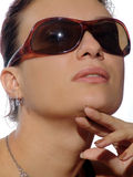 Beauty. Young beautiful woman with sunglasses Stock Image