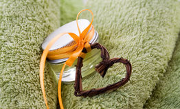 Beauty. Little jar of beauty treatment Royalty Free Stock Image