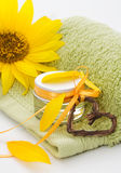 Beauty. Little jar of beauty treatment Royalty Free Stock Photography