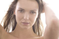 Beauty. Natural beauty close up clear skin stock photo