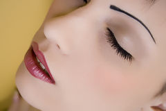 Beauty. Up close of a woman's face Stock Photos