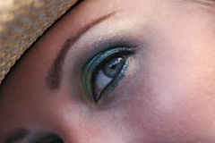 Beauty. Makeup on female eye stock images