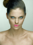 Woman with sugary lips Stock Photography