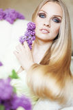 Beauty. Portrait of beautiful woman with amazing blue eyes Stock Photography