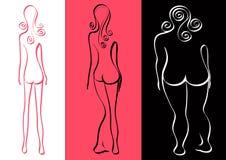 Beauty. Three kinds of women's beauty Royalty Free Stock Photo