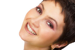 Beauty. Happy beauty woman smiling. Beauty series Stock Photos