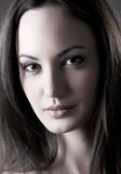 Beauty. Portrait of a young beautiful woman, black and white Stock Images