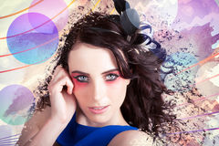 Beauty In The Abstract Colors Of Make-up Stock Image