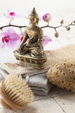 Beauty accessories at ayurvedic spa Stock Photography