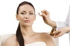 Beauty adv portrait Stock Photos