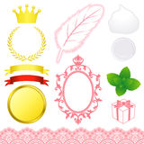 Beauty advertisement icons. Set of beauty advertisement icons. Vector illustration Stock Images