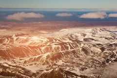 Beauty of aerial view Iceland mountain natural landscape Royalty Free Stock Images