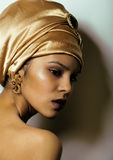 Beauty african woman in shawl on head, very Stock Photos