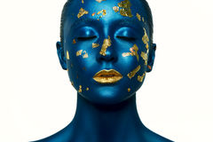 Beauty Alien Halloween Makeup. Royalty Free Stock Images