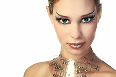 Beauty alien woman royalty free stock images