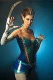 Beauty alien woman stock photography