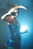 Beauty alien woman Royalty Free Stock Image