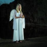 Beauty angel by the lake Stock Images