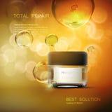 Beauty anti aging cream ads. Stock Photo