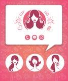 Beauty app Stock Photo