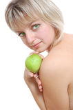 Beauty with apple Royalty Free Stock Photography