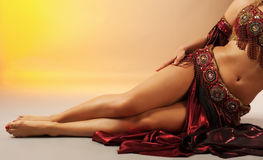 Beauty arabian dancer legs Stock Images