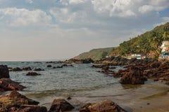 Beauty Arambol beach. Landscape, Goa state, India Royalty Free Stock Photos