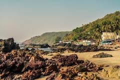 Beauty Arambol beach landscape. Goa state, India Royalty Free Stock Image