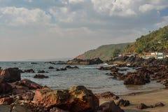 Beauty Arambol beach. Landscape, Goa state, India Stock Image
