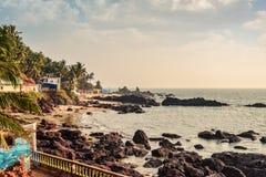 View of Arambol Beach. Beauty Arambol beach landscape, Goa state, India Royalty Free Stock Photos