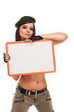 Beauty in Army Stock Photography