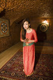 Beauty asian girl greeting Royalty Free Stock Images