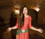 Beauty asian girl greeting Stock Image