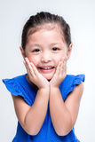 Beauty asian girl headshot in white background. Happy cute girl from Thailand Stock Images