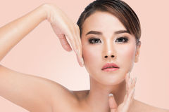 Beauty Asian Portrait Perfect Face and Skin Royalty Free Stock Photos