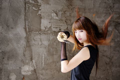 Beauty assasin. Asian girl roll play the assassin Royalty Free Stock Photo