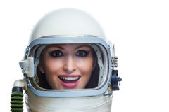 Beauty astronaut Stock Image