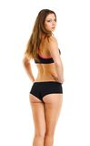 Beauty athletic girl, view from the back Royalty Free Stock Photography