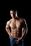 Beauty athletic male portrait look at camera Stock Photography