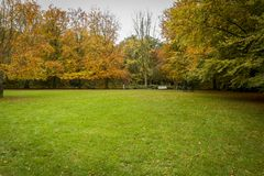Beauty of autumn landscapes. Landscape photo of a park in autumn season Royalty Free Stock Photography