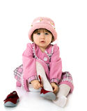 Beauty baby with bonnet Stock Photography