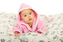 Beauty baby girl looking away Royalty Free Stock Photos