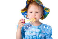 Beauty baby puf up soup bubble Royalty Free Stock Image